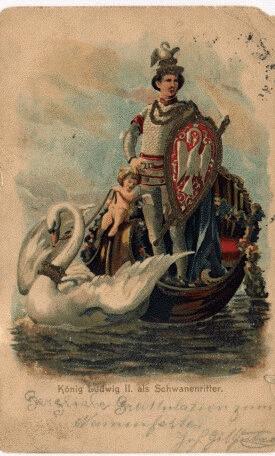 roi louis ii de-baviere representation de cygnes
