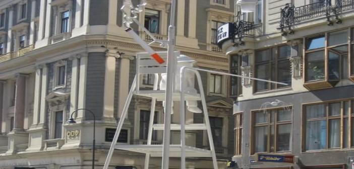 Wien Tagedieb : une étrange colonne de la Peste sur l'avenue Graben 77