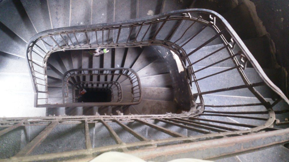 budapest perspective escalier