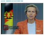 christine ockrent annonçant la chute du mur de berlin