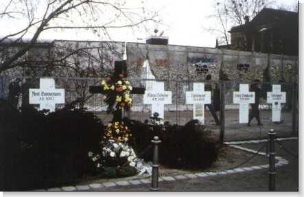 tombes des victimes du mur de berlin