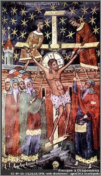 Dragomirna fresque Urcarea pe cruce