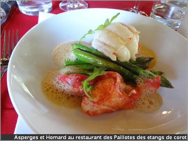 Paillotes des Etangs de Corot asperges homard
