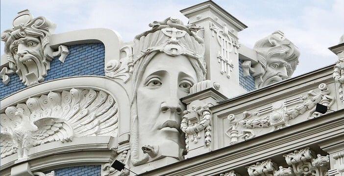 Riga batiment Art Nouveau Eisenstein