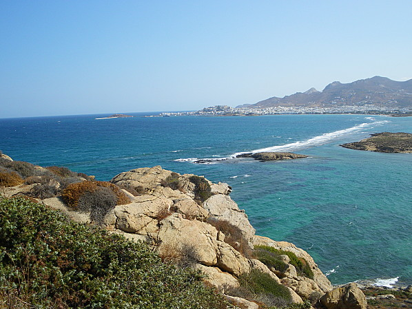 cyclades naxos mer translucide