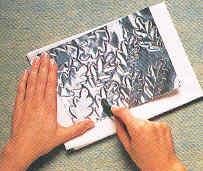 guirlande metal feuilles de chene