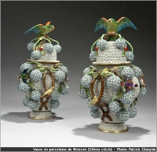 vases 19eme siecle porcelaine meissen