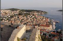 Hvar vue sur la ville depuis la forteresse