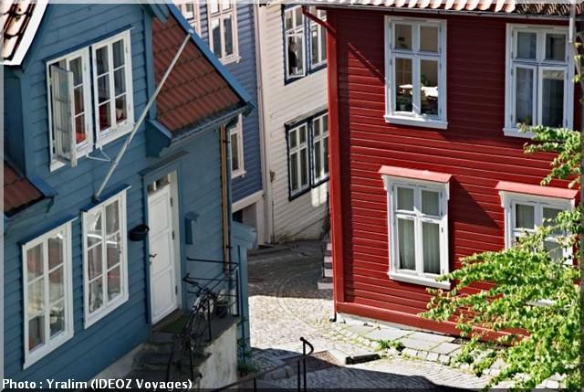 bergen norvege maisons colorees