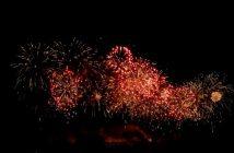 feu artifice carcassonne 2011 gerbes rouges