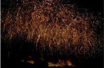 feu artifice carcassonne 2012 pluie doree