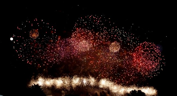 feu d'artifice carcassonne 2011