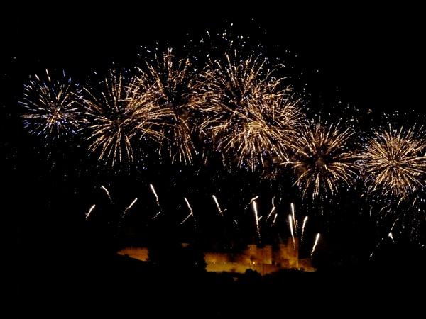 feu d'artifice carcassonne 2012