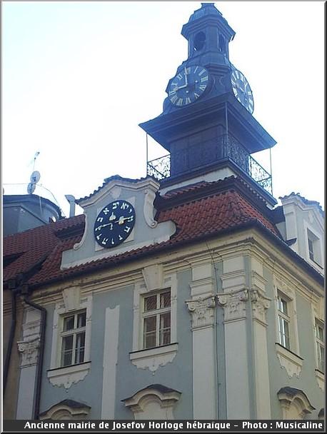 prague mairie josefov horloge hebraique