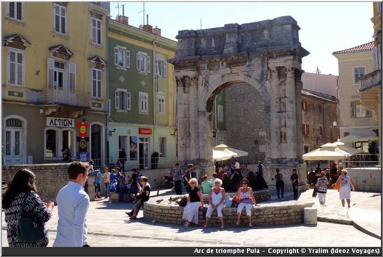 pula arche arc de triomphe romain