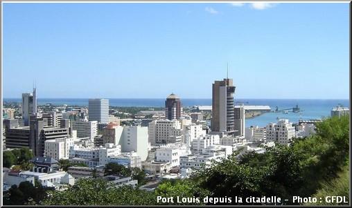 Port louis depuis la citadelle Ile maurice