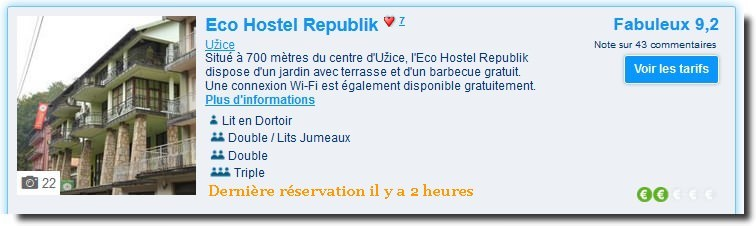 eco hostel republik uzice