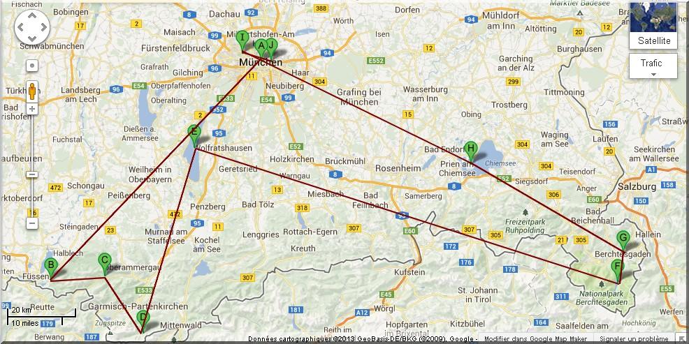 itineraire baviere munich route allemande louis 2 de baviere