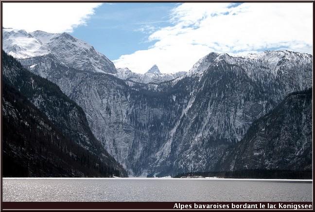 lac konigssee  et alpes bavaroises