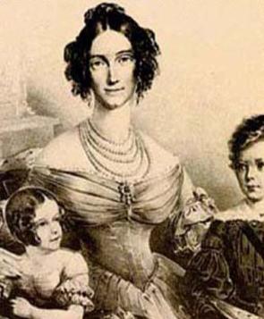 Marie Ludovica Wihlemine mère de l'impératrice sissi avec Louis Guillaume et Hélène