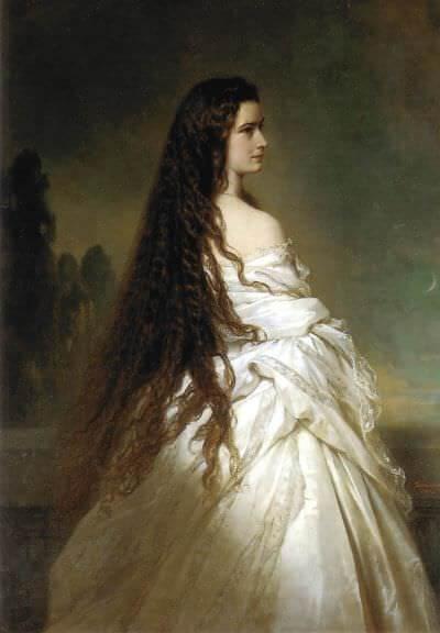 """sissi elisabeth imperatrice d'autriche pour qui ses cheveux étaient """"sa vraie couronne"""""""