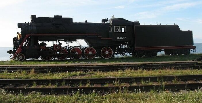 Train vapeur Байкал en Sibérie 154 construction du transsibérien
