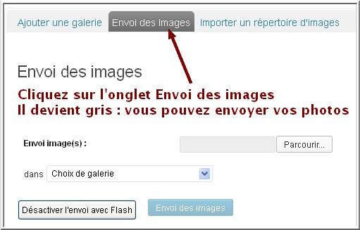 envoi images diaporama