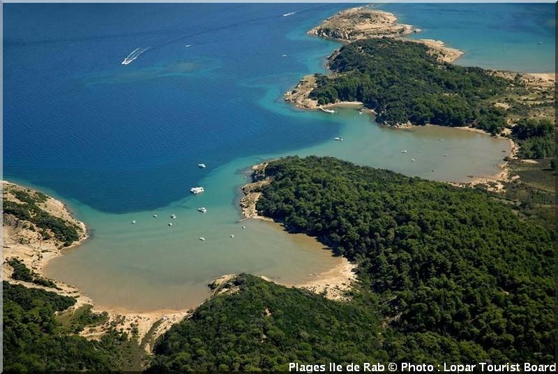 plage ile rab croatie