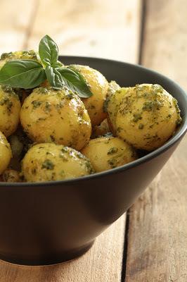 pommes de terre basilic