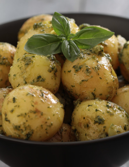 pommes de terre primeur pesto