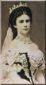 portrait SISSI a son mariage elisabeth de wittelsbach