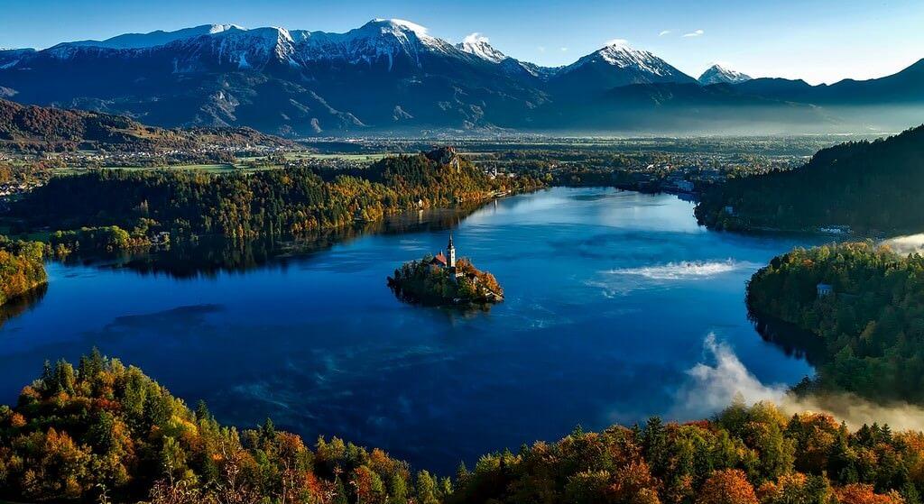 Bled en slovénie dans les Alpes juliennes