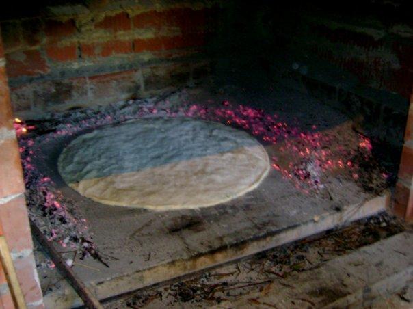 Cuisson de la pâte du soparnik