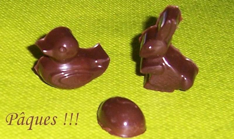 Paques chocolats au praliné