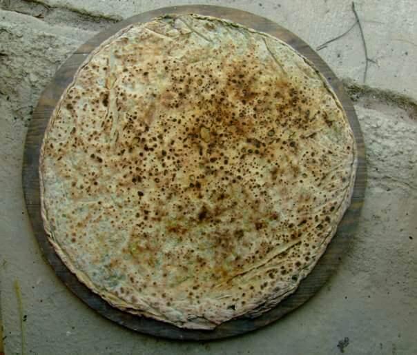 Soparnik en train de cuire