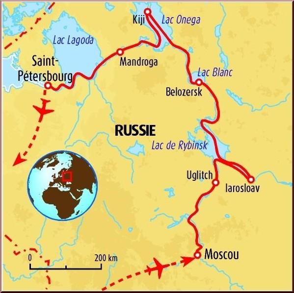 carte russie voyage moscou saint petersbourg