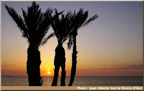 djerba tunisie coucher de soleil