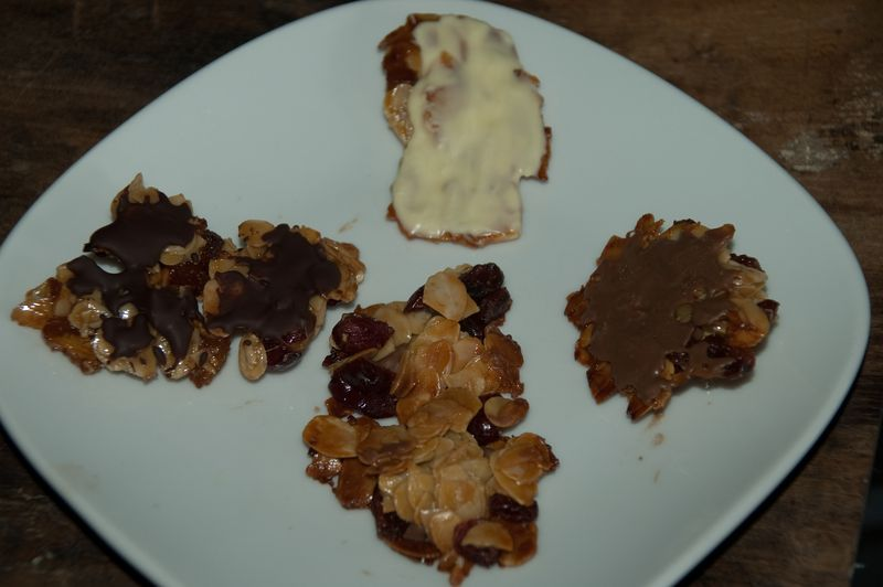 florentins nappes au chocolat