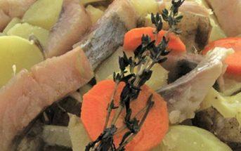 harengs marinés pommes de terre à l'huile