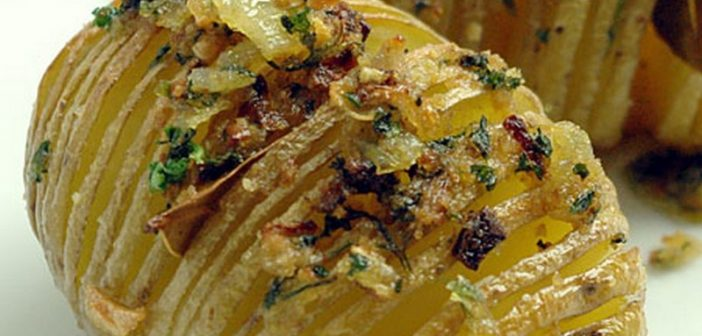 Recette hasselback potatis pommes de terre r ties su doises - Ou trouver des caisses u00e0 pommes ...