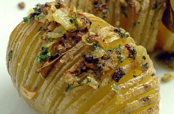 hasselback pommes de terre suedoises