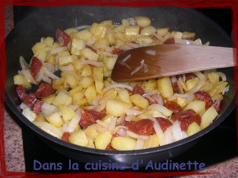 ingredients tortilla a l'espagnole chorizo