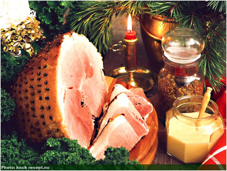 julskinka jambon de noel suédois