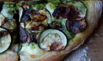 pizza courgettes pesto alla genovese