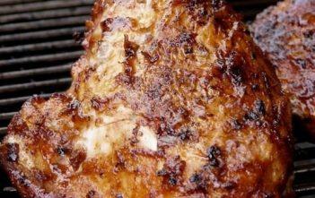 poulet cuit au barbecue aux 3 saveurs