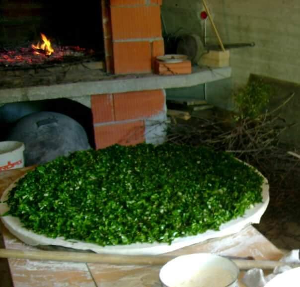 soparnik aux épinards préparation