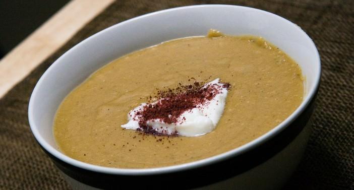 soupe aux marrons et au salsiz