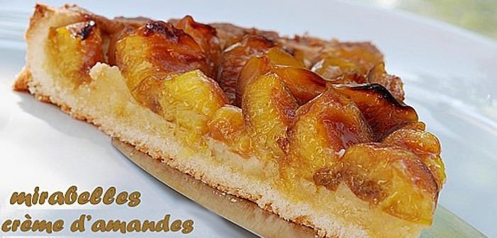 tarte aux mirabelles et la cr me d 39 amandes recette lorraine. Black Bedroom Furniture Sets. Home Design Ideas