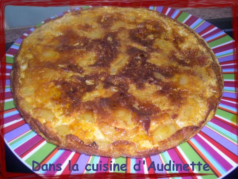 tortilla a l'espagnole au chorizo