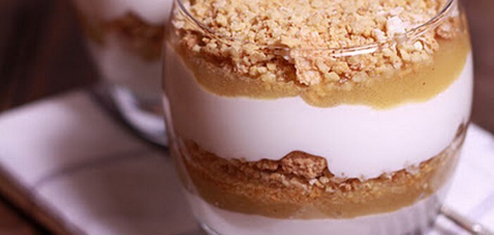 Æblekage ; dessert aux pommes et makroner facile à faire (Recette ...